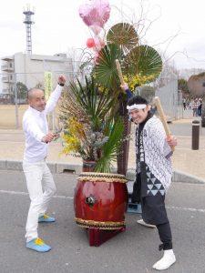 花活け×和太鼓コラボ