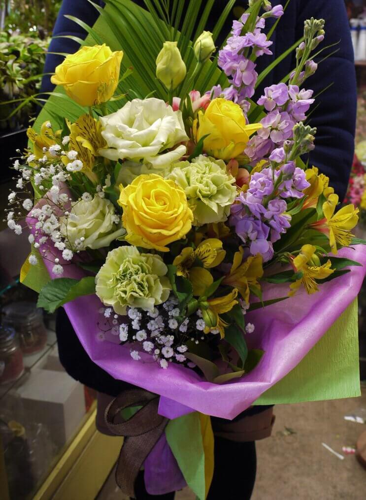 花束3000円黄色系