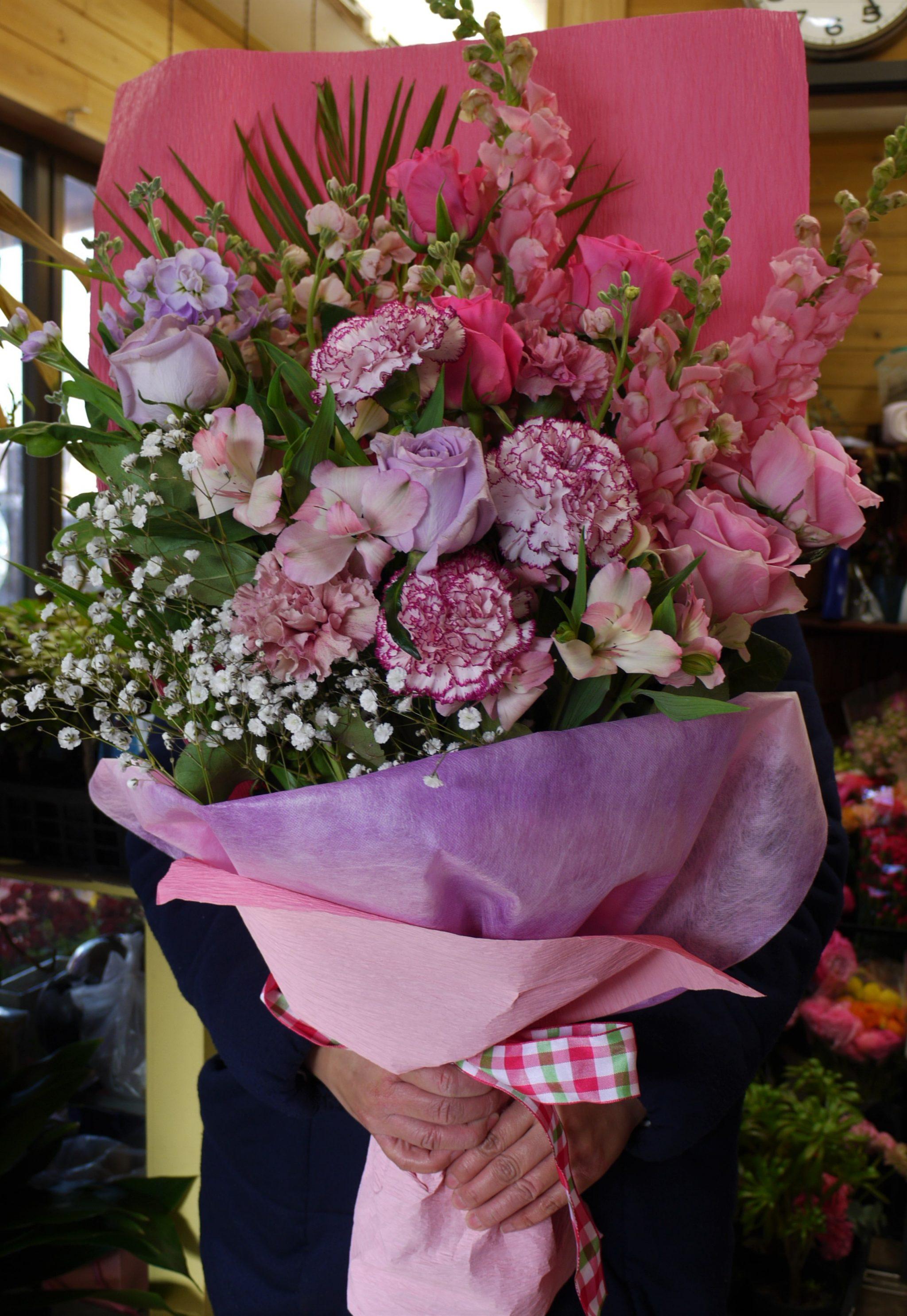 5000円花束ピンク系