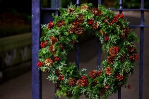ヒムロ杉を使ったクリスマスリース